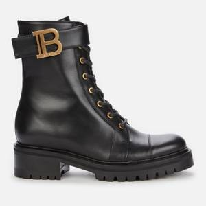 Balmain Women's Ranger Boot Leather - Black