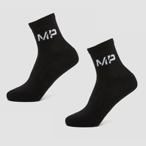 MP Women's Essentials Crew Socks (2 Pack) Black