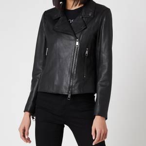 BOSS Women's Sajuana1 Leather Jacket - Black