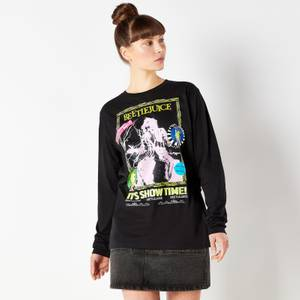 Beetlejuice Retro Cover Unisex Long Sleeved T-Shirt - Black