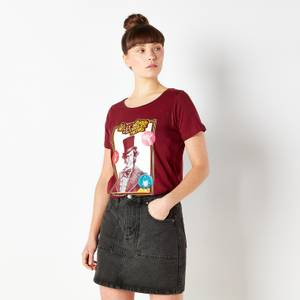 Willy Wonka & The Chocolate Factory Retro Cover Women's T-Shirt - Burgundy