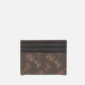 Coach Women's Horse and Carriage Flat Card Case - Black Brown