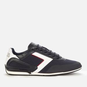 BOSS Men's Saturn Low Profile Trainers - Dark Blue
