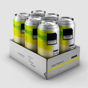 E-Sports Command Energy Cans, Citrus, 6 x 440ml