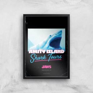 Der weiße Hai Amity Island Shark Tours Giclee Art Print