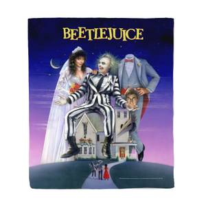 Beetlejuice Poster Fleece Blanket