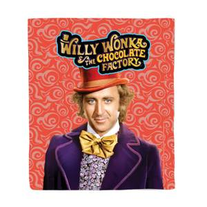 Willy Wonka & the Chocolate Factory Fleece Blanket