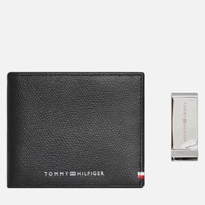 Tommy Hilfiger Men's Leather Business Wallet with Clip - Black