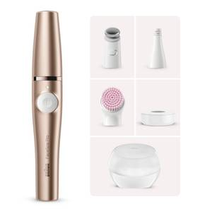 Braun FaceSpa Pro Facial Epilator with 4 Extras and Beauty Storage Case