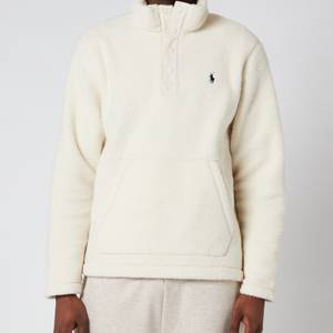 Polo Ralph Lauren Men's Vintage Fleece Mockneck Sweatshirt - Winter Cream