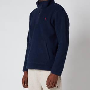 Polo Ralph Lauren Men's Vintage Fleece Mockneck Sweatshirt - Cruise Navy