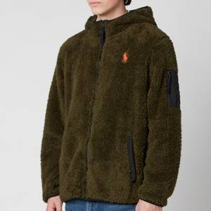 Polo Ralph Lauren Men's Curly Sherpa Full Zip Hoodie - Company Olive