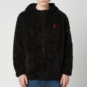 Polo Ralph Lauren Men's Curly Sherpa Full Zip Hoodie - Polo Black