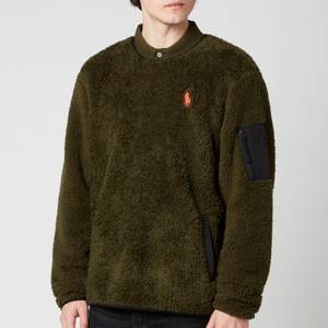 Polo Ralph Lauren Men's Curly Sherpa Sweatshirt - Company Olive