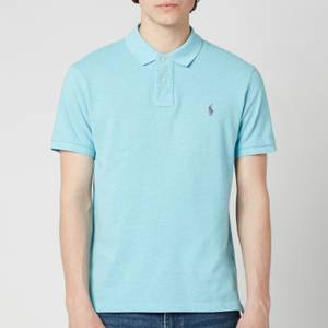 Polo Ralph Lauren Men's Mesh Knit Slim Fit Polo Shirt - Watchhill Blue Heather