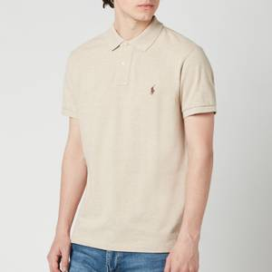 Polo Ralph Lauren Men's Mesh Knit Slim Fit Polo Shirt - Expedition Dune Heather