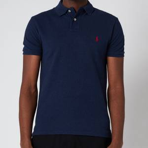 Polo Ralph Lauren Men's Mesh Knit Slim Fit Polo Shirt - Spring Navy Heather