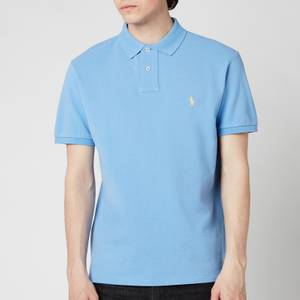 Polo Ralph Lauren Men's Mesh Knit Slim Fit Polo Shirt - Cabana Blue