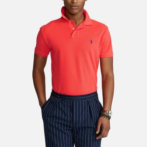 Polo Ralph Lauren Men's Mesh Knit Slim Fit Polo Shirt - Racing Red