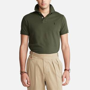Polo Ralph Lauren Men's Mesh Knit Slim Fit Polo Shirt - Company Olive