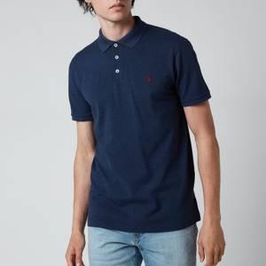 Polo Ralph Lauren Men's Stretch Mesh Slim Fit Polo Shirt - Fresco Blue Heather