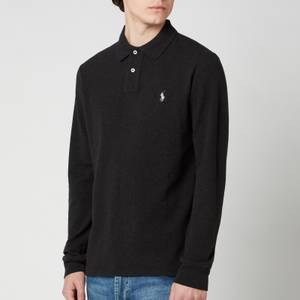 Polo Ralph Lauren Men's Basic Mesh Long Sleeve Polo Shirt - Black Marl Heather
