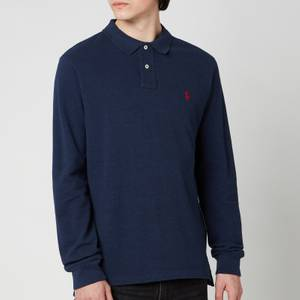 Polo Ralph Lauren Men's Basic Mesh Long Sleeve Polo Shirt - Spring Navy Heather