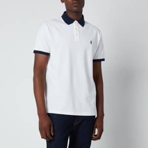 Polo Ralph Lauren Men's Mesh Knit Contrast Collar Polo Shirt - White