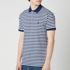 Polo Ralph Lauren Men's Interlock Striped Slim Fit Polo Shirt - Freshwater/White