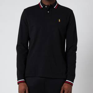 Polo Ralph Lauren Men's Basic Mesh Long Sleeve Slim Fit Polo Shirt - Polo Black