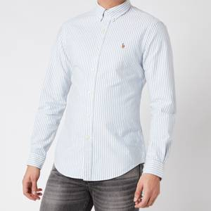 Polo Ralph Lauren Men's Slim Fit Oxford Shirt - Blue/White