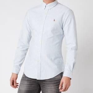 Polo Ralph Lauren Men's Slim Fit Oxford Shirt - Blue/White