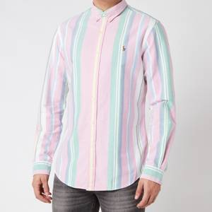 Polo Ralph Lauren Men's Slim Fit Oxford Shirt - Pink/Green Multi