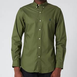 Polo Ralph Lauren Men's Slim Fit Poplin Shirt - Supply Olive