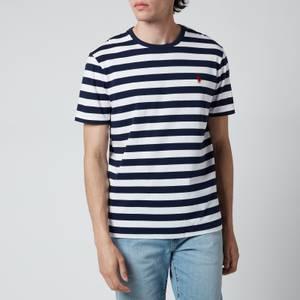 Polo Ralph Lauren Men's Jersey Stripe T-Shirt - White/French Navy