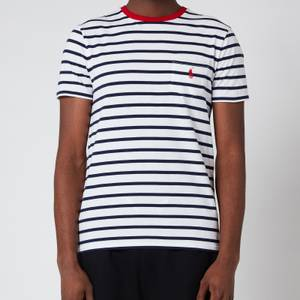 Polo Ralph Lauren Men's Striped Crewneck T-Shirt - White/French Navy