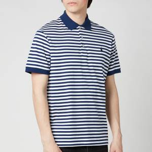 Polo Ralph Lauren Men's Interlock Striped Custom Fit Polo Shirt - Freshwater/White