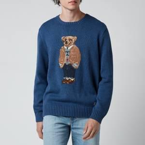 Polo Ralph Lauren Men's Polo Bear Wool Blend Jumper - Rustic Navy Heather
