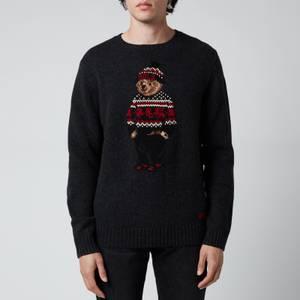 Polo Ralph Lauren Men's Polo Bear Wool Blend Jumper - Charcoal Heather