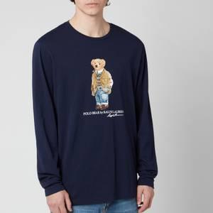 Polo Ralph Lauren Men's Jersey Polo Bear Long Sleeve T-Shirt - Cruise Navy