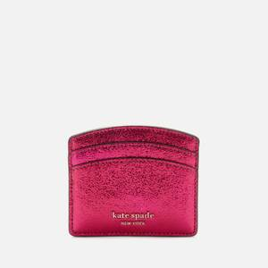 Kate Spade New York Women's Spencer Metallic Card Holder - Rhododendron