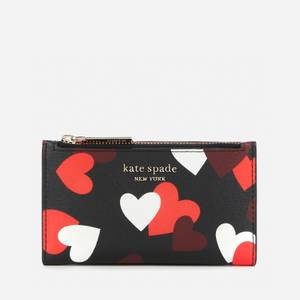 Kate Spade New York Women's Spencer Hearts Bifold Wallet - Black Multi
