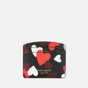 Kate Spade New York Women's Spencer Hearts Card Holder - Black Multi