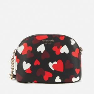Kate Spade New York Women's Spencer Hearts Dome Cross Body Bag - Black Multi