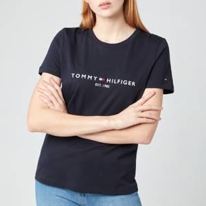 Tommy Hilfiger Women's TH Essentials Hilfiger Regular T-Shirt - Desert Sky