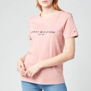 Tommy Hilfiger Women's TH Essentials Hilfiger Regular T-Shirt - Soothing Pink