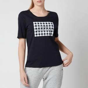Tommy Hilfiger Women's Regular Box Open-Neck T-Shirt - Desert Sky