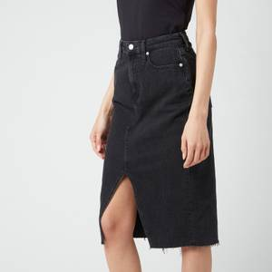 Calvin Klein Jeans Women's High Rise Midi Skirt - Denim Black