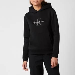Calvin Klein Jeans Women's Reflective Monogram Hoodie - CK Black