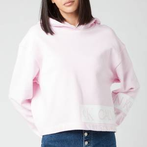 Calvin Klein Jeans Women's Mirrored Logo Hoodie - Pearly Pink